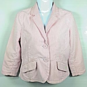 American Eagle Womens Medium Pink White Pin Stripe